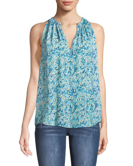 Piper Sleeveless Floral-Print Top