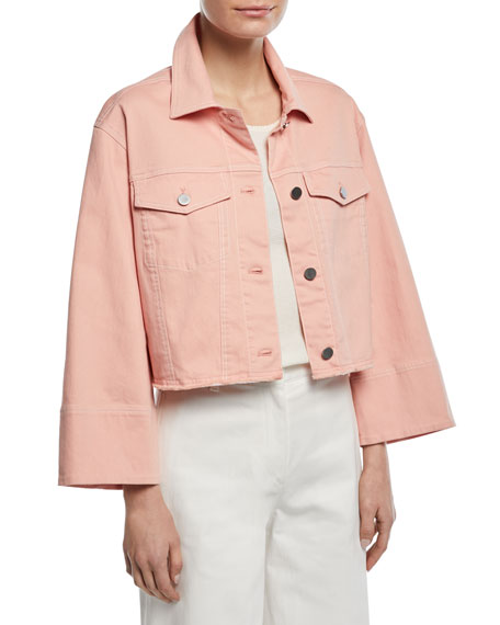 Branson Cropped Boxy Denim Jacket