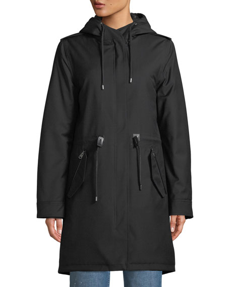 Renina Two-in-One Down-Filled Anorak Coat w/ Rain Shell