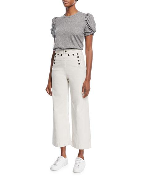 Pierce High-Waist Wide Leg Cropped Sailor Pants