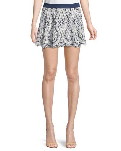 Larissa Embroidered Mini Skirt
