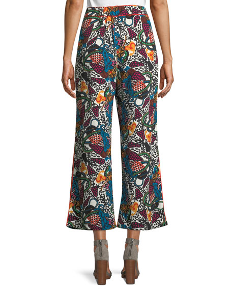 Eira Multi-Printed Wide-Leg Pants