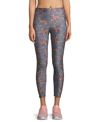 Basic Printed High-Rise 7/8 Leggings