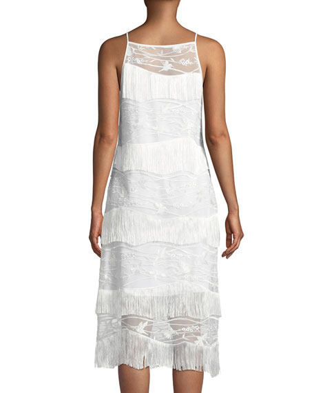 Cleo Fringed-Trim Shift Dress
