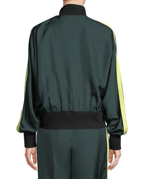 Silk Zip-Front Track Jacket