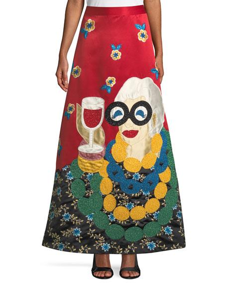 Alice + Olivia Iris Apfel A-Line Ball Gown Skirt