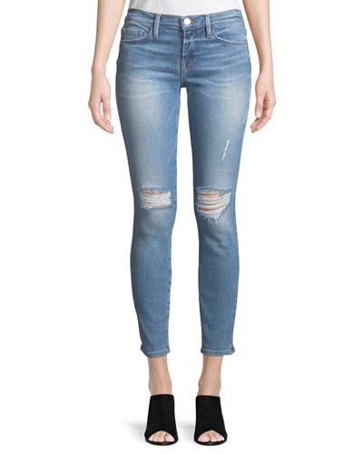 Le Skinny De Jeanne Distressed Jeans