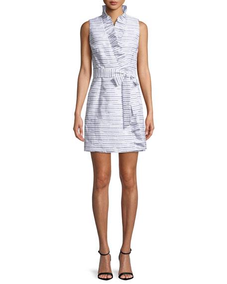 9d39a9d664 Milly Sleeveless Ruffled Wrap Dress