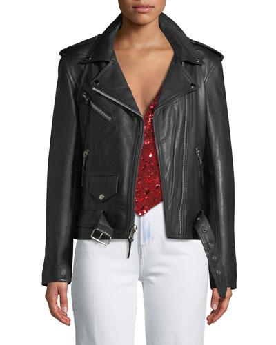Hell On Heels Leather Biker Jacket