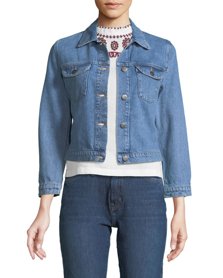 Sunland Button-Down Denim Jacket