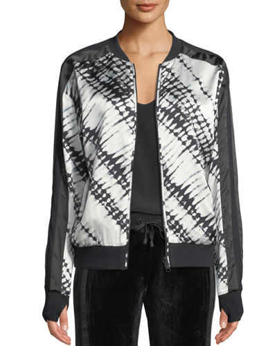 Reversible Printed Silk Bomber Jacket