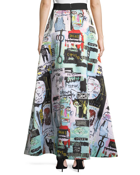 Meryl Graphic-Print Embellished Maxi Skirt