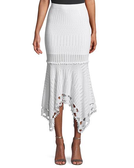 Lacy Cotton Crochet Midi Skirt
