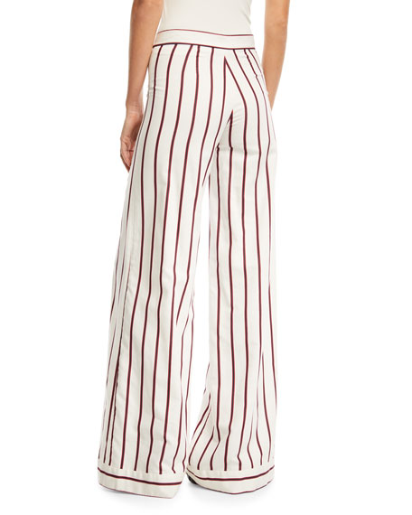 Niel Striped Wide-Leg Pants