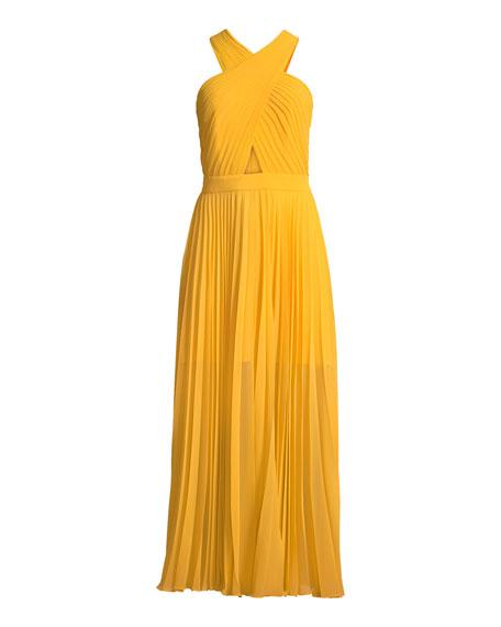 Elenita Pleated Cocktail Dress