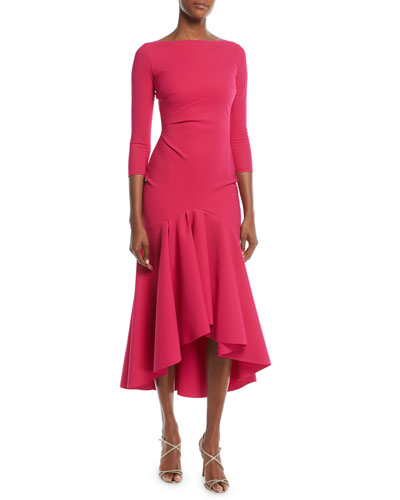 Wilma High-Low Ruffle Cocktail Dress