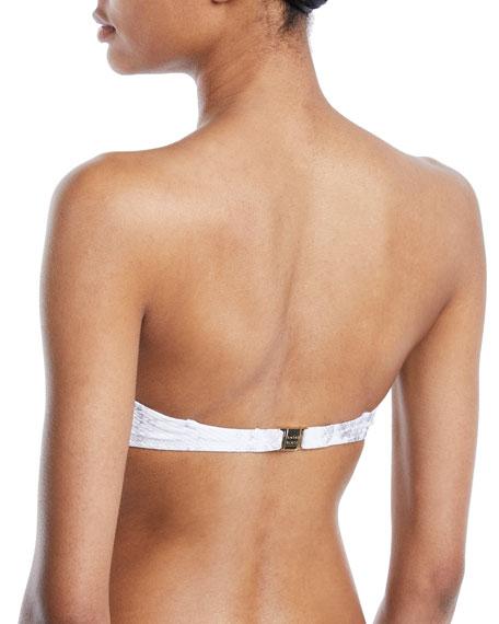 Core Textured Bandeau Bikini Top