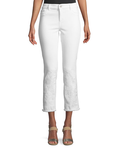 Mara Embroidered Instasculpt Cropped Jeans