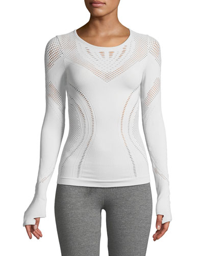 Lark Long-Sleeve Mesh Top