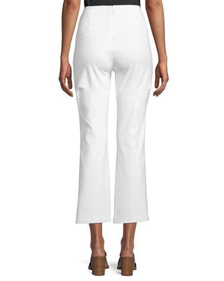 Hina High-Waist Straight-Leg Cropped Pants