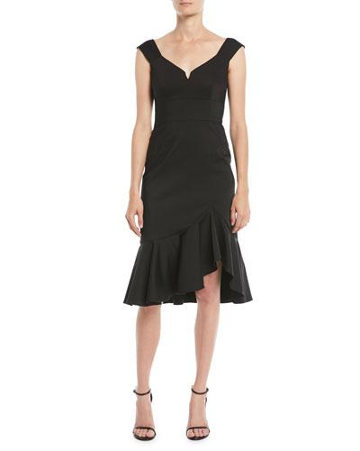 Escapade Dress w/ Asymmetric Hem