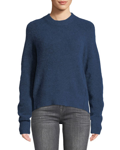 Crewneck High-Low Pullover Sweater