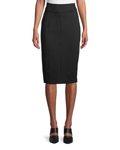 Elie Tahari Genisis Zip-Front Knee-Length Pencil Skirt