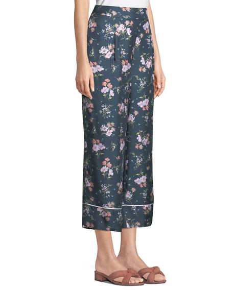 Emilia Floral-Print Wide-Leg Pants