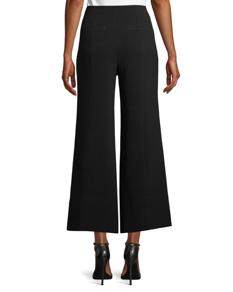 Jessi Buckle Wide-Leg Cropped Pants
