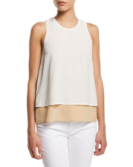 Catarina Layered Silk Tank Top