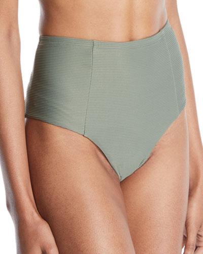 Leah High-Waist Bikini Swim Bottom