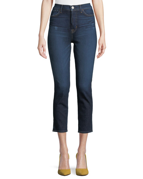 Image 1 of 1: Holly High-Rise Skinny Cropped Jeans
