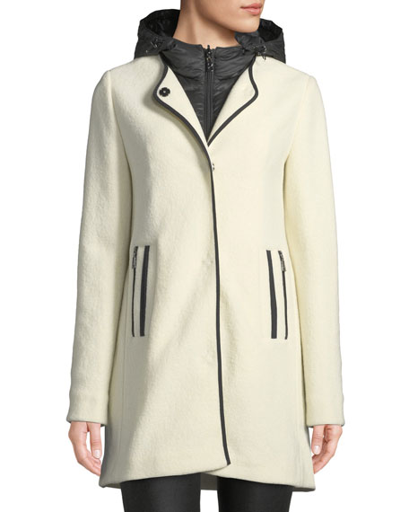 Bogner Susana Two-Piece Coat w/ Hood & Wool