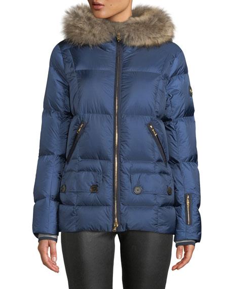 Bogner Miri Puffer Coat w/ Removable Fur Trim