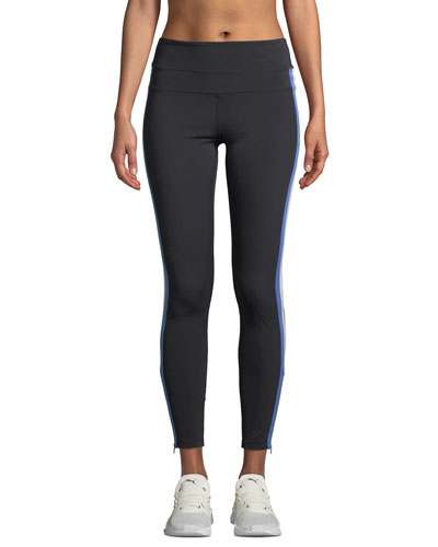 Side-Stripe High-Rise Activewear Track Tights