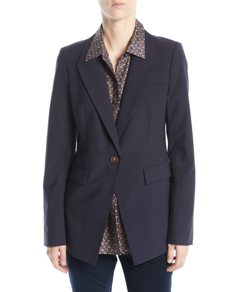 Heather Emerging Wool-Stretch Jacket