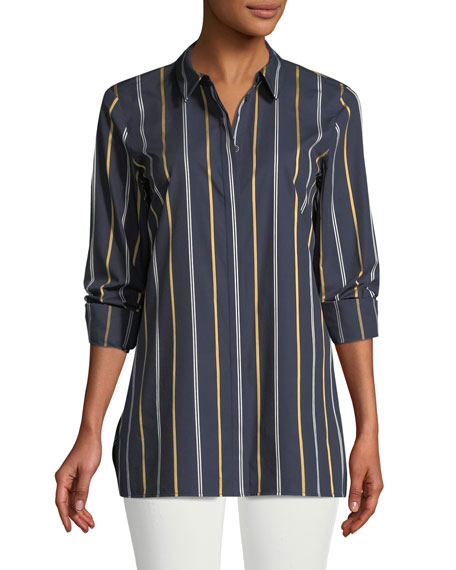Lafayette 148 New York Brayden Riverside Stripe Blouse