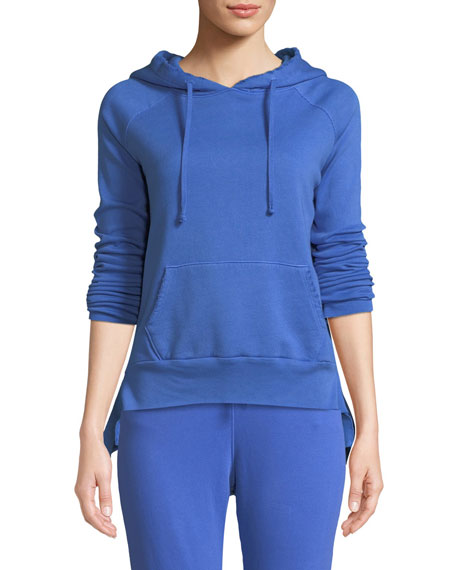 FRANK & EILEEN TEE LAB Hooded Cotton Fleece Pullover Sweater in How Royal 5 Year Vintage Wash