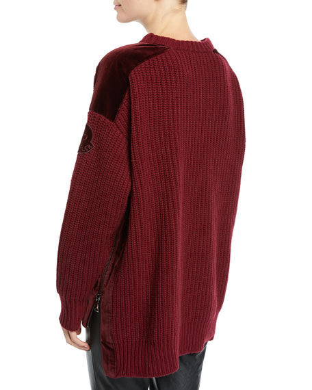 Details about Moncler Knitted Round Neck Jumper Maglione Tricot Girocollo Size S