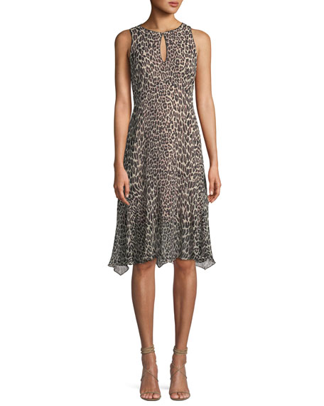 Nanette Lepore Ferocious Leopard-Print Sleeveless Dress