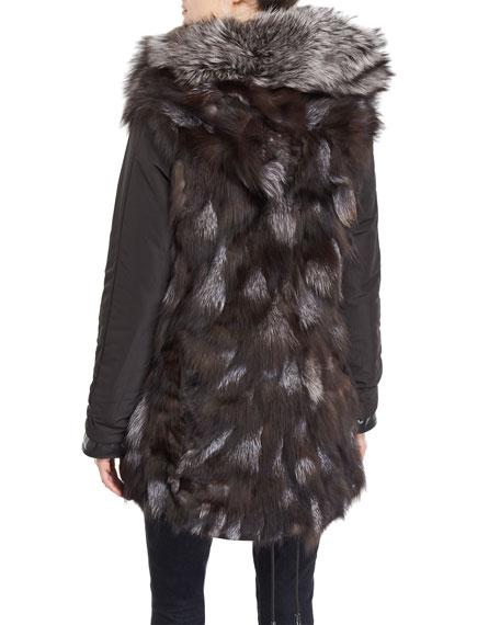 Belleville Reversible Fox-Fur Parka Jacket