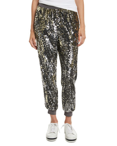 Pete Sequin Embellished Jogger Pants