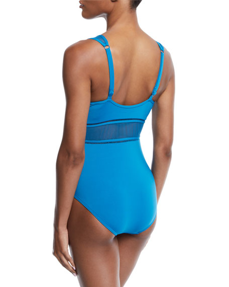 97af249cae3 JETS by Jessika Allen Aspire Plunging Underwire One-Piece Swimsuit ...