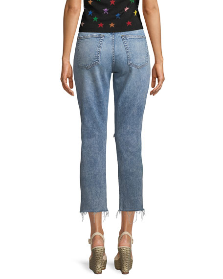 Amazing Embellished High-Rise Cropped Jeans