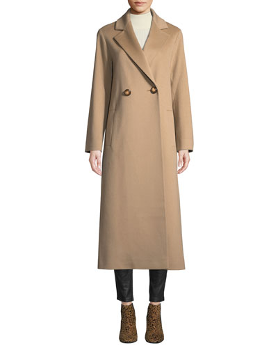 Long Two-Button Wool Coat