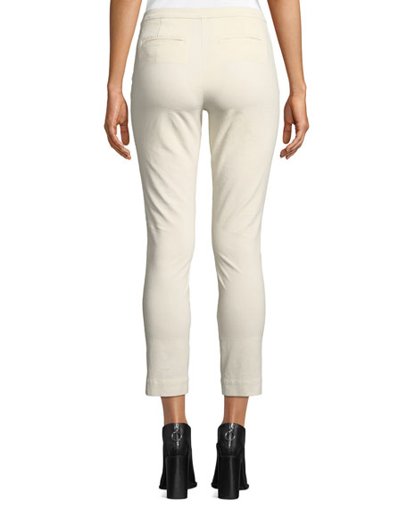 Stretch-Corduroy Cropped Slim-Leg Pants