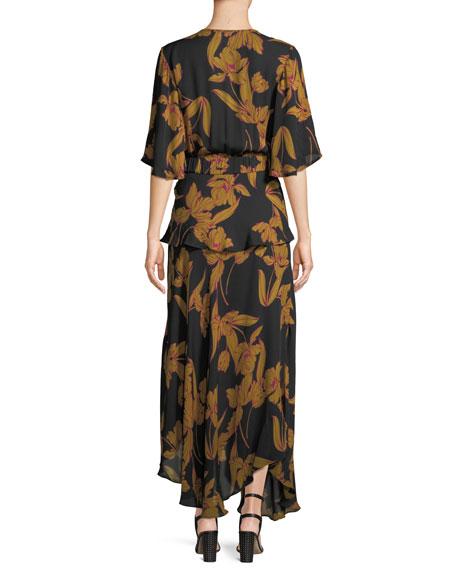 Avi Floral-Print Silk Maxi Dress