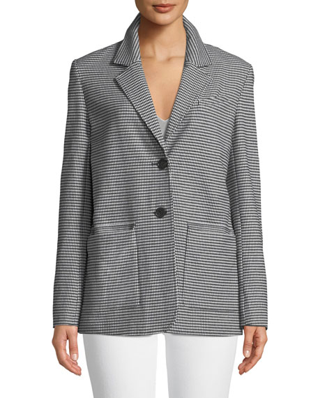 Oversized Check Two-Button Blazer