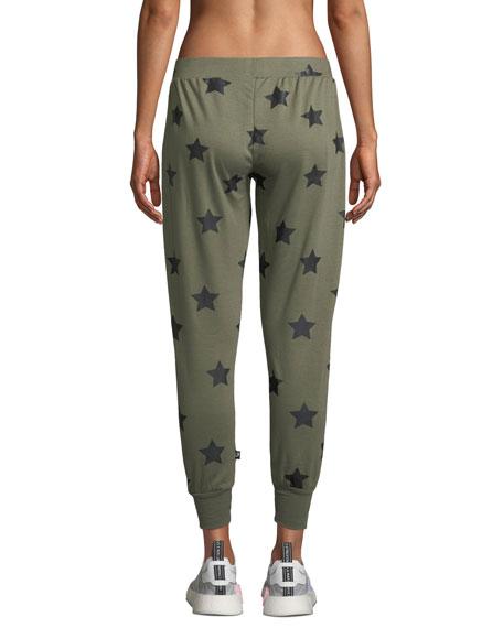 Star-Print Drawstring Jogger Pants