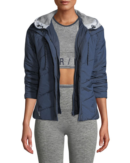 Image 1 of 1: Toast Quilted Zip-Front Hooded Jacket